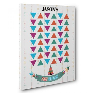Custom Made Wild Tent Birthday Guestbook Canvas Wall Art