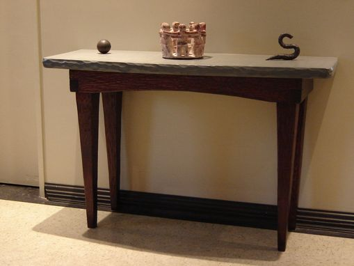 Custom Made Foyer Table / Stone And Wood