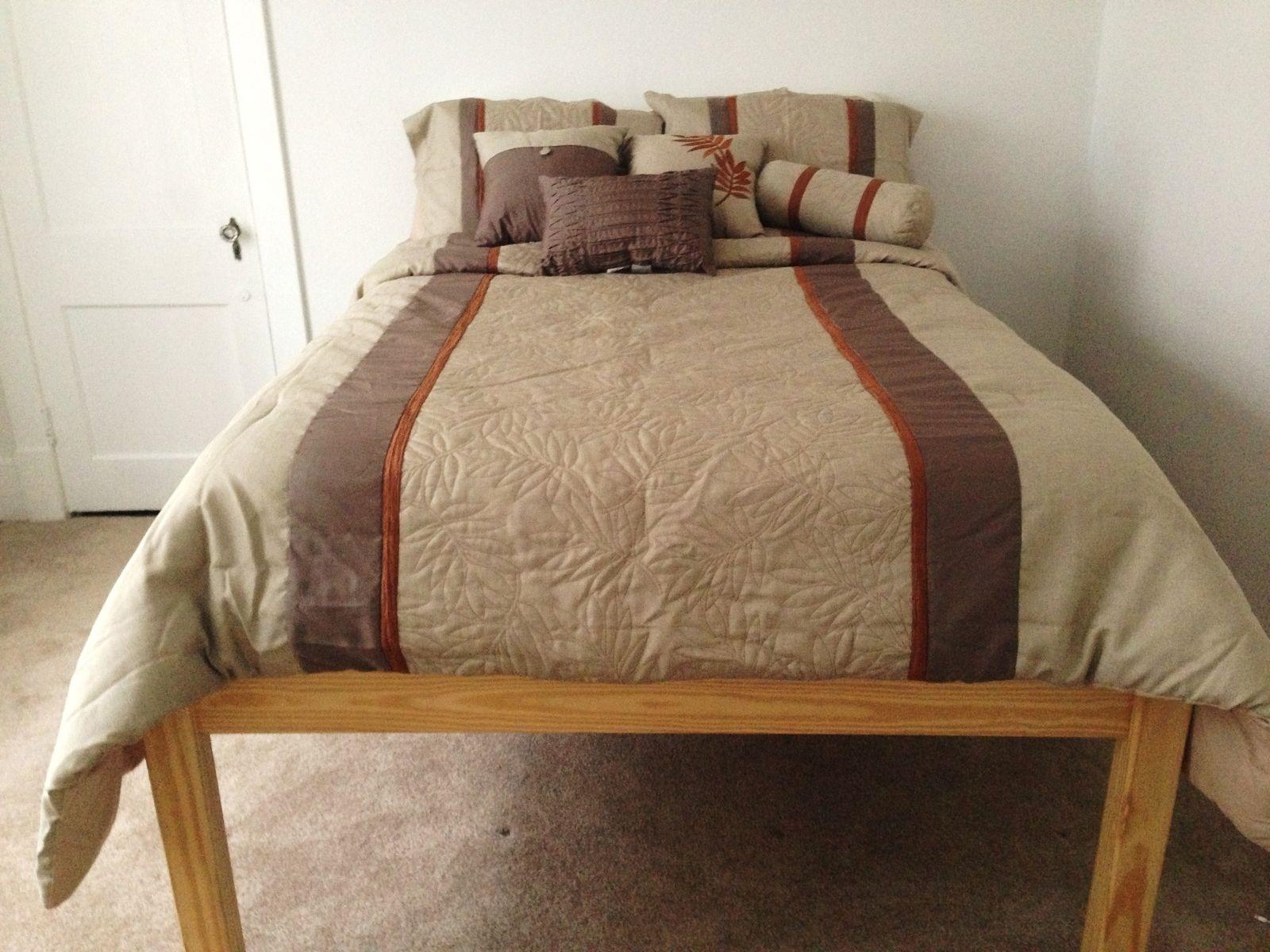 custom made custom raised pine bed frame