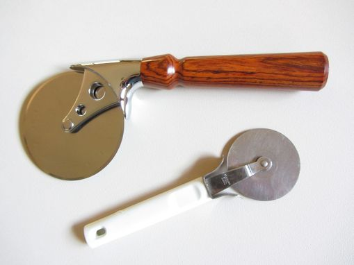 Custom Made Ultimate Pizza Cutter With Cocobolo Handle