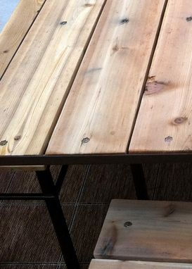 Custom Made Outdoor Dinning Table With Benches.