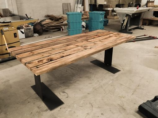 Custom Made Reclaimed Pine Nail Dining Table
