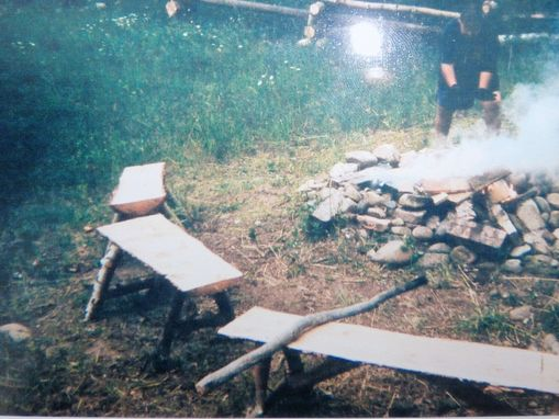 Custom Made Half Cut Log Seats