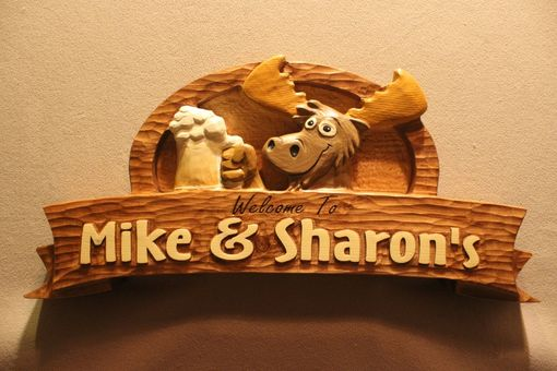 Custom Made Custom Wood Cabin Signs, Moose Signs, Home Bar Signs By Lazy River Studio