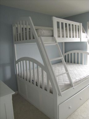 Custom Made Queen And Xl Twin Bunk Bed With Full Trundle
