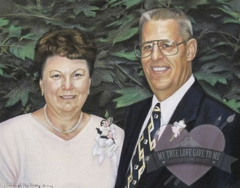 Custom Made Chalk Pastel Portrait Drawing, Memorial 2012