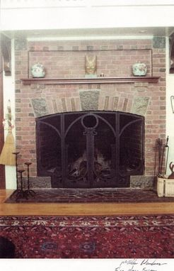 Custom Made Arts & Crafts Style  Fireplace Screen