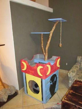 Custom Made Cat Tree And Cat Cabinet Combo