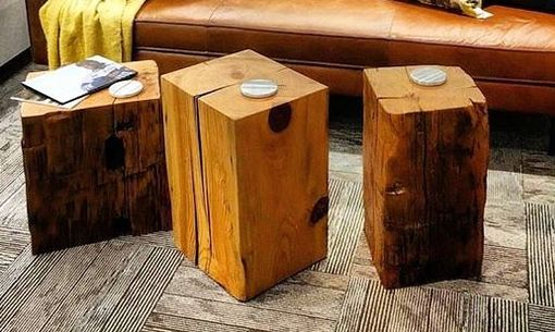 Custom Made Squared Log End Tables