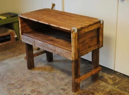 Custom Made Reclaimed Wood Tv Stand