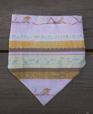 Custom Made Beach Girl Bibdana, In Reversible Cotton Bandana Bib For Baby