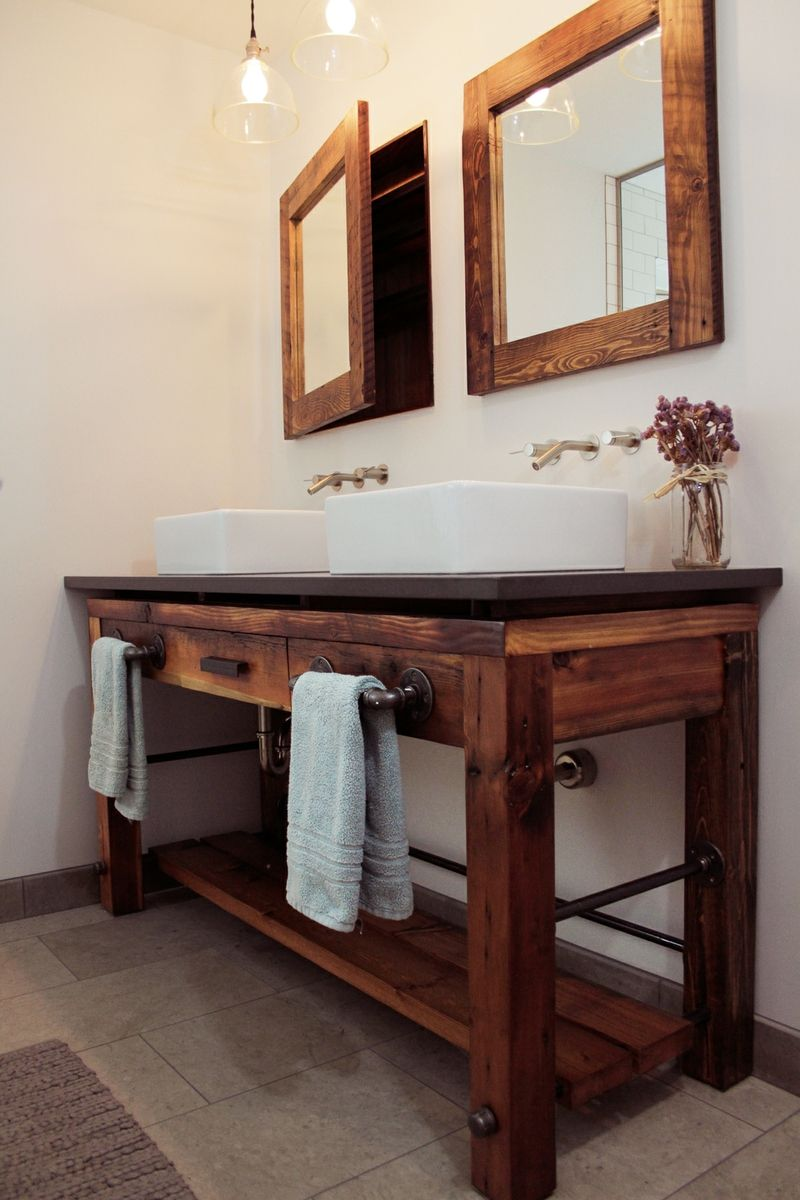 Hand made bathroom vanity by old hat workshop for Custom bathroom vanity designs