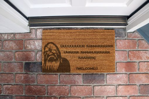 Custom Made Custom Door Mats --Dm-Coir-Chewbacca
