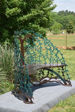 Buy A Custom Made Tree Of Life Garden Steel Metal Bench