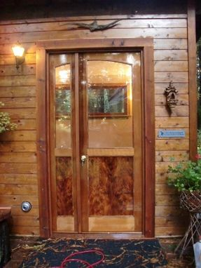 Custom Made Writing Studio Windows And Entry Door Made Of Redwood