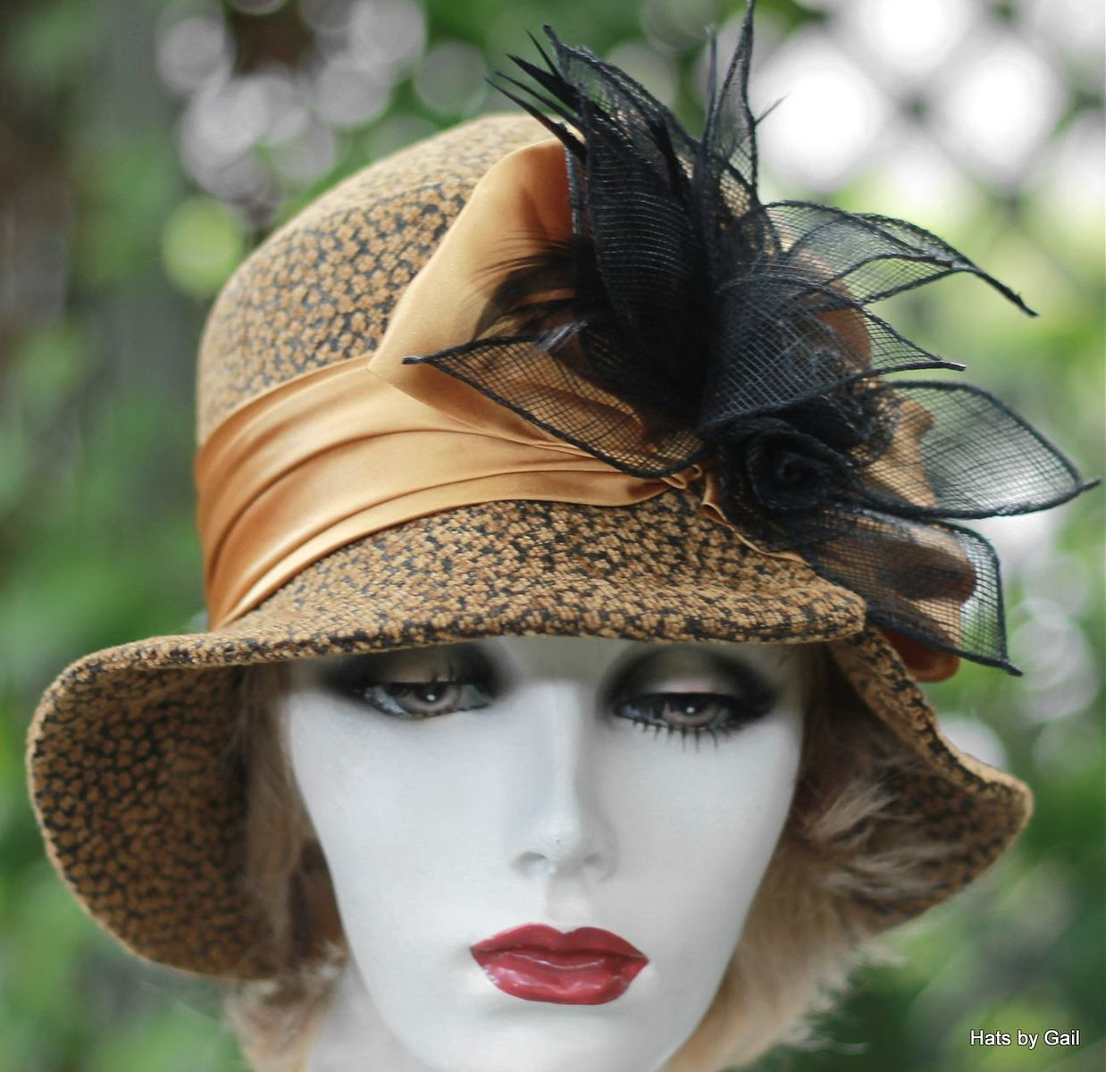 Buy a Hand Made Chic Couture 1920 S Style Women s Cloche Hat 92c0c7a6a1