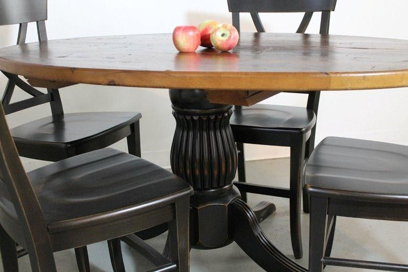 Custom 50 Round Farm Style Dining Table From Old Pine By ECustomFinishes