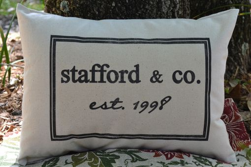 Custom Made Last Name Personalized Pillow Cover