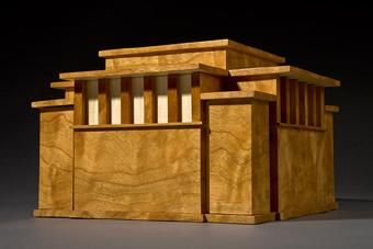 Hand Crafted Unity Temple Wooden Jewelry Box By Jay Rogers