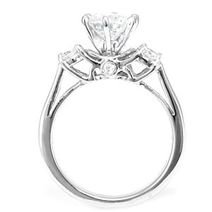 Custom Made Diamond Engagement Ring In 14k White Gold, Proposal Ring, Ladies Ring
