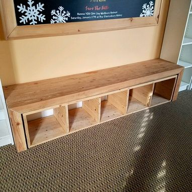 Custom Made Balance Bench With Removable Bookshelf
