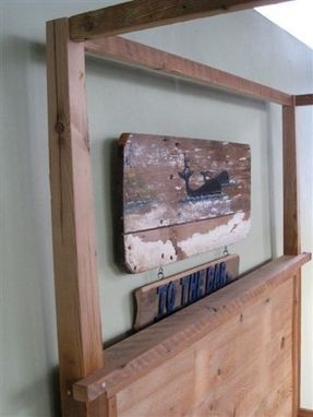Hand Made Wooden Canopy Bed By Ecustomfinishes Reclaimed Wood Furniture Custommade Com