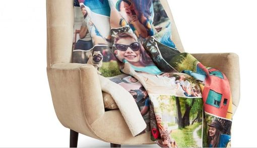 Custom Made Custom, Personalized Photo Collage Blanket