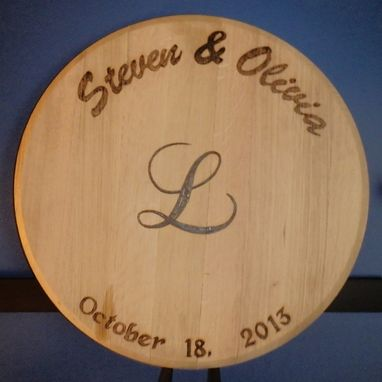 Custom Made Guest Book Barrel Heads