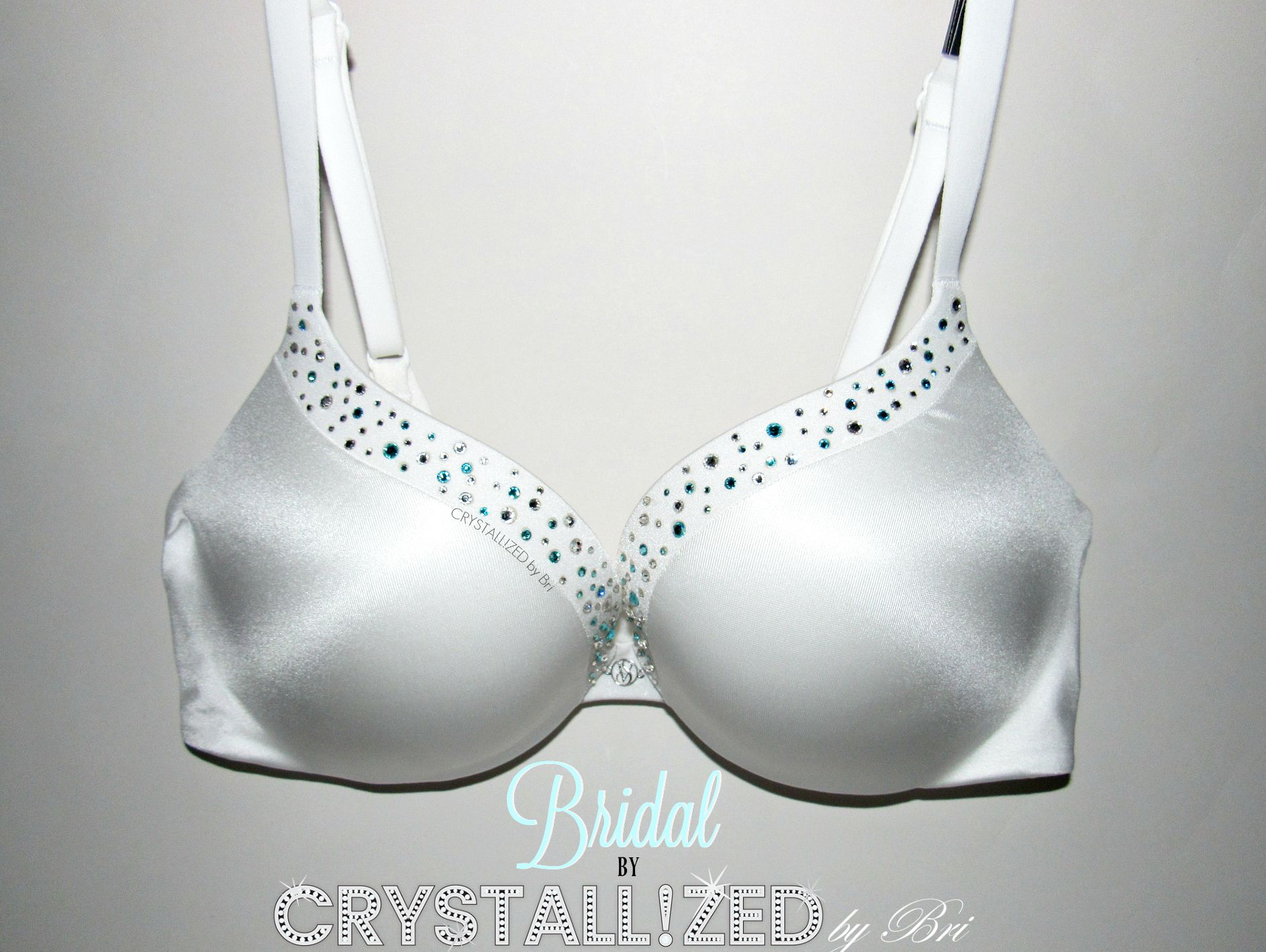 7a9d860c1a Buy Custom Crystallized Bling Bridal Wedding Night Push Up Bra Victoria s  Secret Made With Swarovski Crystals