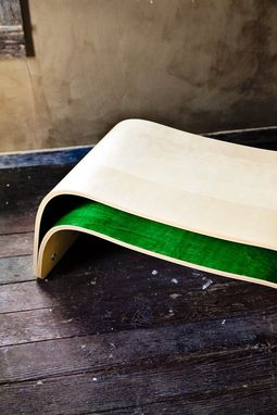 Custom Made Bent Plywood Table/Bench