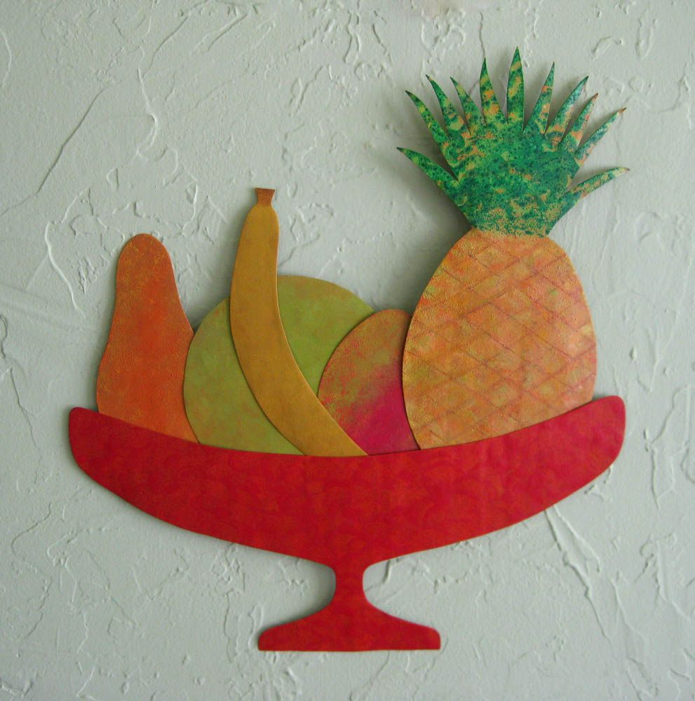 Hand Crafted Art Sculpture Tropical Fruit Reclaimed