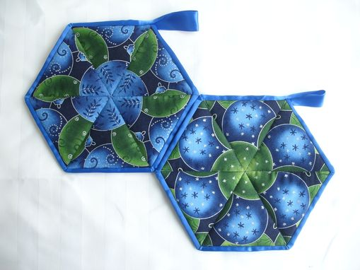 Custom Made Kaleidoscope Potholders - Various Prints