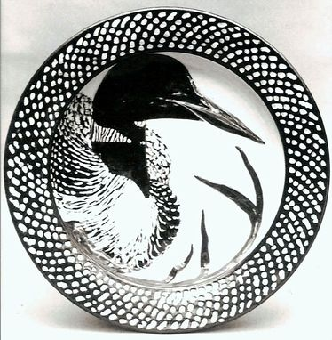 "Custom Made "" Loon's Summer Plumage"" Platter"