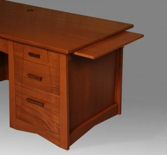 Custom Made Mahogany Sculpted Desk