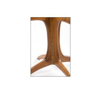 Custom Made Mesquite Pedestal Table