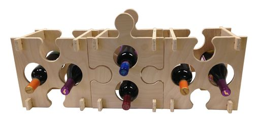 Custom Made Puzzle Wine Rack