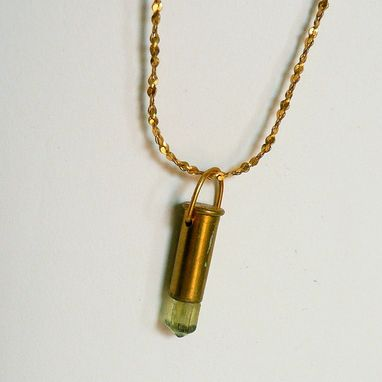 Custom Made Bullet Crystal Pendant Golden Appatite Yellow