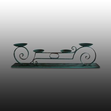 Custom Made Wrought Iron Candle Holder Toi & Moi