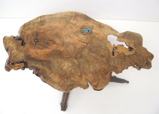 Custom Made Curly Burl Maple Coffee Table