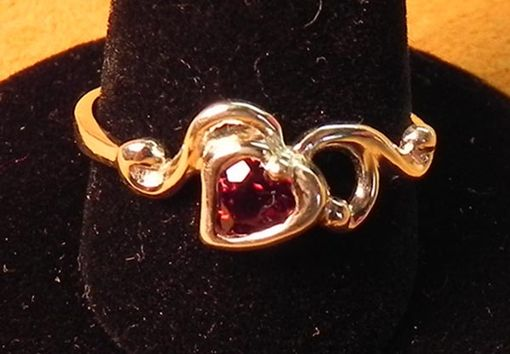 Custom Made Gemstone Heart Ring