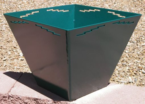 Custom Made Decorative Steel Planter W/ Powder Coat Finish By Rustic Furniture Hut