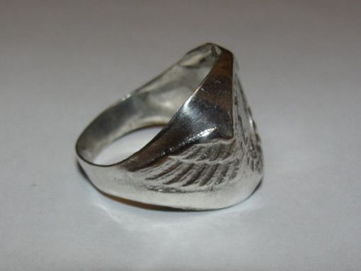 Custom Made Antiqued Sterling Silver American Airline Junior Stewardess Ring