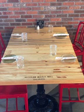 Custom Made Restaurant Tables, Pine. 36x36.