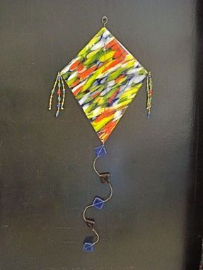 Custom Made Glass Kite Window Or Wall Hanging