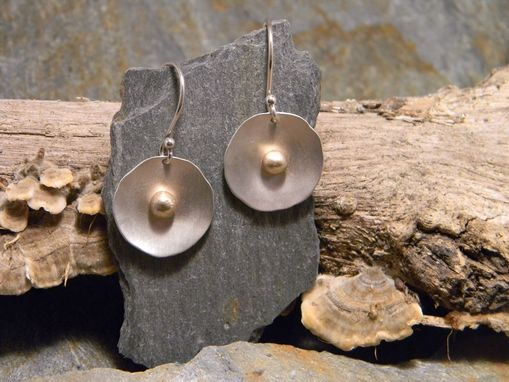 Custom Made Sterling Silver Earrings With A 14k Gold Dot.