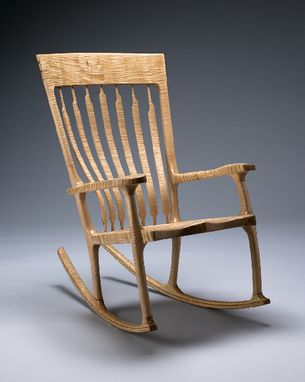 Custom Made Tiger Maple Rocking Chair
