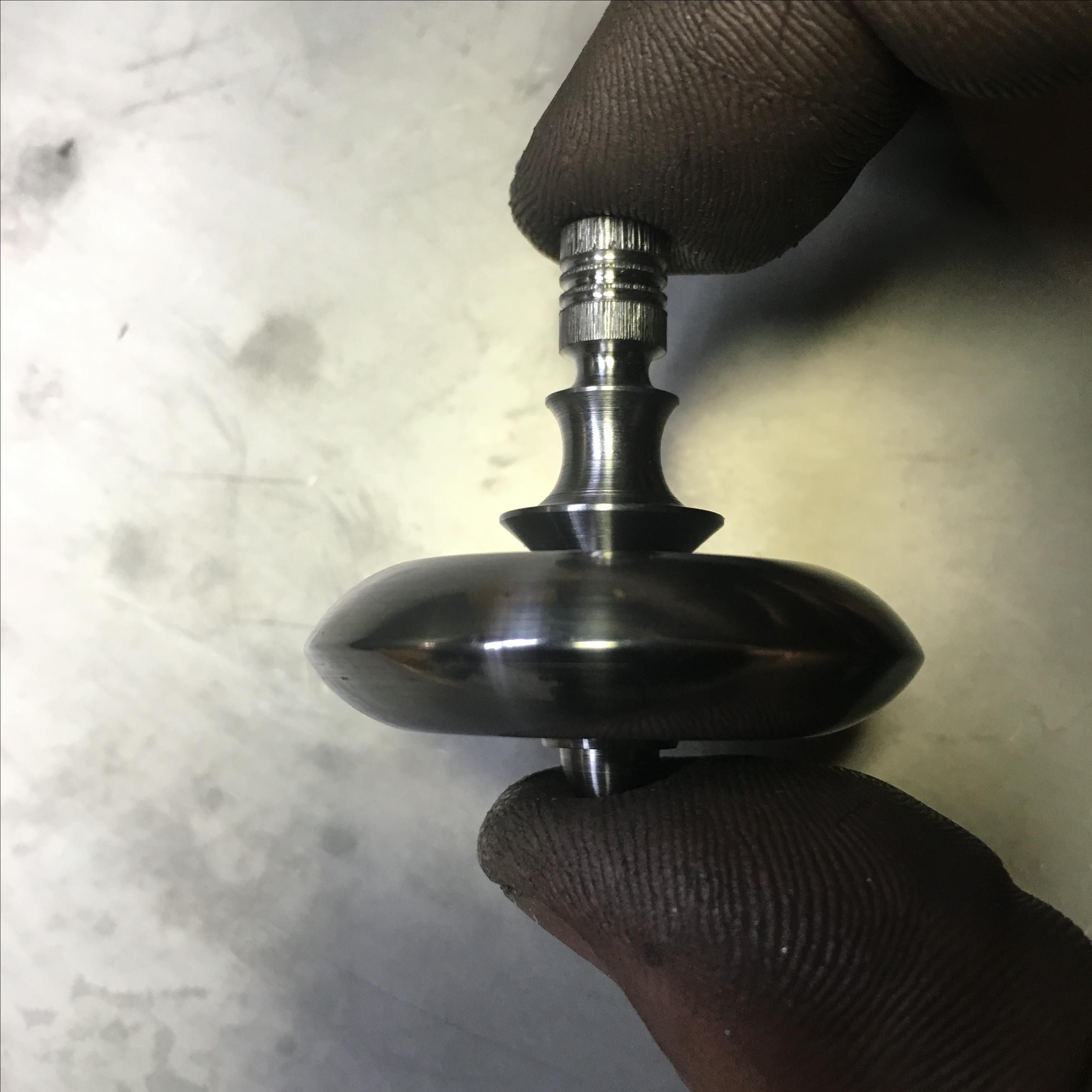 Hand Crafted 1 5 Quot Diameter Iron And Titanium Spinning Top