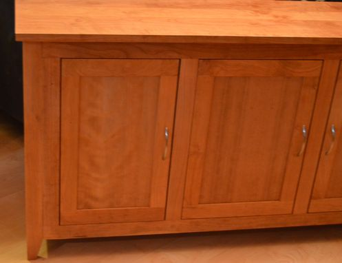 Custom Made Figured Solid Cherry Credenza