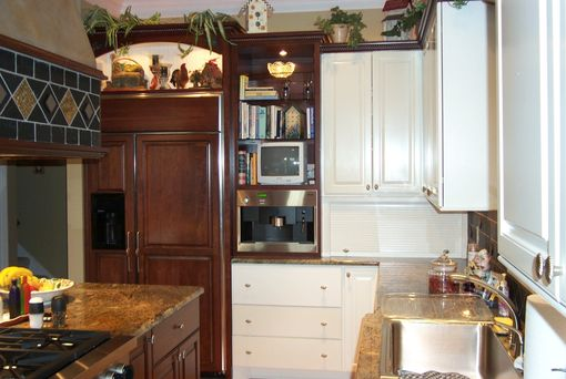 Custom Made Custom Painted And Stained Kitchen Cabinets