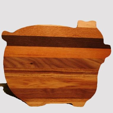 Custom Made Hardwood Pig Shaped Cutting Boards